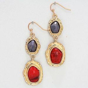 Raw Quartz Dangle Earrings